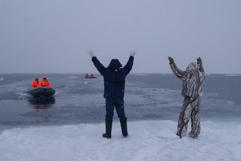 рыбаки на льдине юрьевец